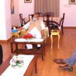 Governor of Goa, Shri Satya Pal Malik interacted with the Leader of Opposition, Shri Digamber Kamat during his Courtesy visit at Raj Bhavan, Donapaula on May 6, 2020. President of Goa Seamen Association of India, Shri Dixon Vaz was also present.