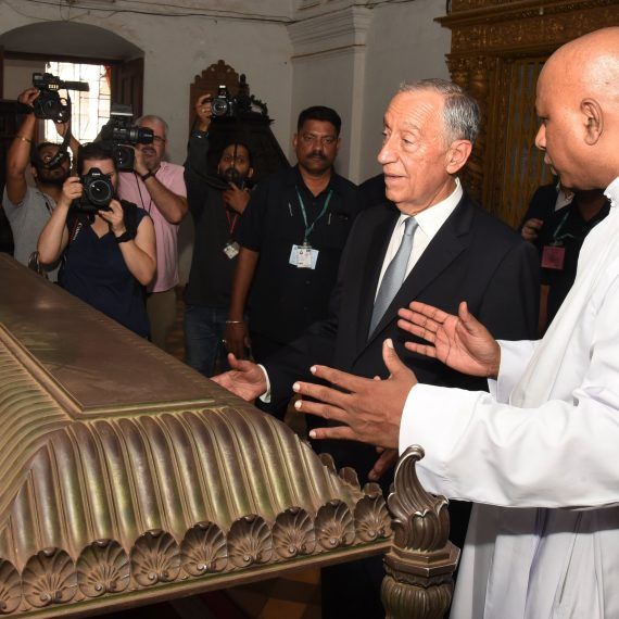 President of Portugal visited the Basilica of Bom Jesus at Old Goa on Feb. 16, 2020.