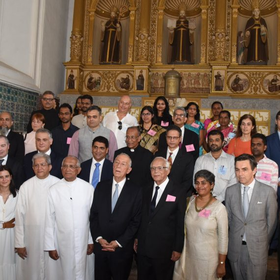 President of Portugal visited the Institute of Mater dei Santa Monica at Old Goa on Feb. 16, 2020.