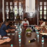 Secretary to Governor reviewed meeting at Raj Bhavan , Donapaula on July 23, 2019.