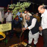 "Governor of Goa, Shri Satya Pal Malik planted a sapling of Drumstick Tree (Moringa Oleifera) during the ""Vanamahotsava – 2020"" celebration jointly organized by Raj Bhavan Goa and Department of Forests, Goa at Aushadhi Vatika, Raj Bhavan, Donapaula on July 9, 2020."