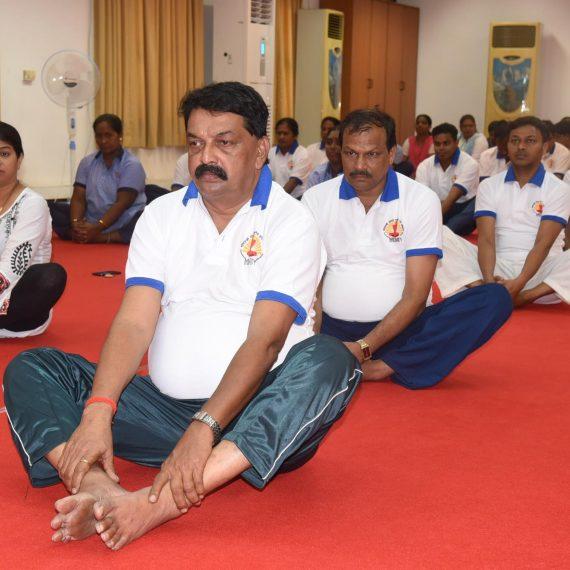 """Speaker attended """"International Yoga Day"""" celebration at Assembly Complex, Porvorim on June 21, 2019."""