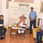 VIEWS CAN BE EXPRESSED IN A BETTER WAY IN MOTHER TONGUE: GOVERNOR. The website of Goa's only Konkani newspaper 'Bhangarbhuim' was launched by Governor Shri Satya Pal Malik in the presence of Chief Minister Dr Pramod Sawant at Raj Bhawan today.