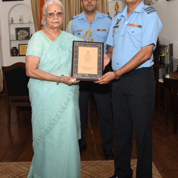 Wing Commander of Indian Air force paid courtesy visit to the Governor at Raj Bhavan, Donapaula on Jul. 17, 2019.