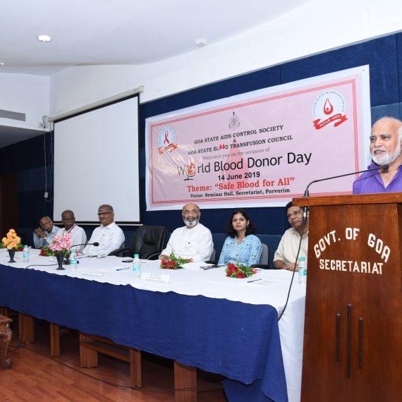 "World Blood Donors Day"" at, Porvorim on June 14, 2019.-min"
