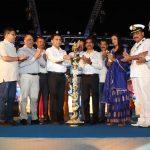 गोंयचें मुखेलमंत्री कंपाल हांगा एक्वा गोवा मेगा फिश फेस्टिव्हल २०२० चे उक्तावण करताना.
