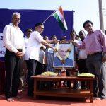 Chief Minister Dr. Pramod Sawant is seen garlanding the photo of late Prime Minister Shri. Atal Bihari Vajpai on his birth Anniversary. MLA Mayem Shri. Pravin Zantye is also seen