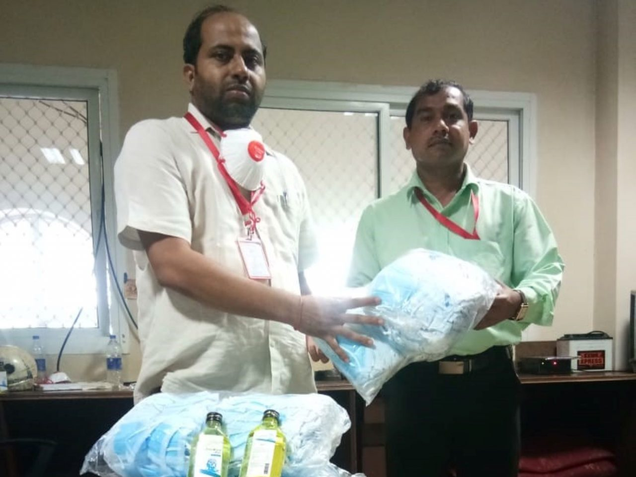 Allocation of masks & sanitizers to all Talukas of South Goa District for use by staff involved in health survey