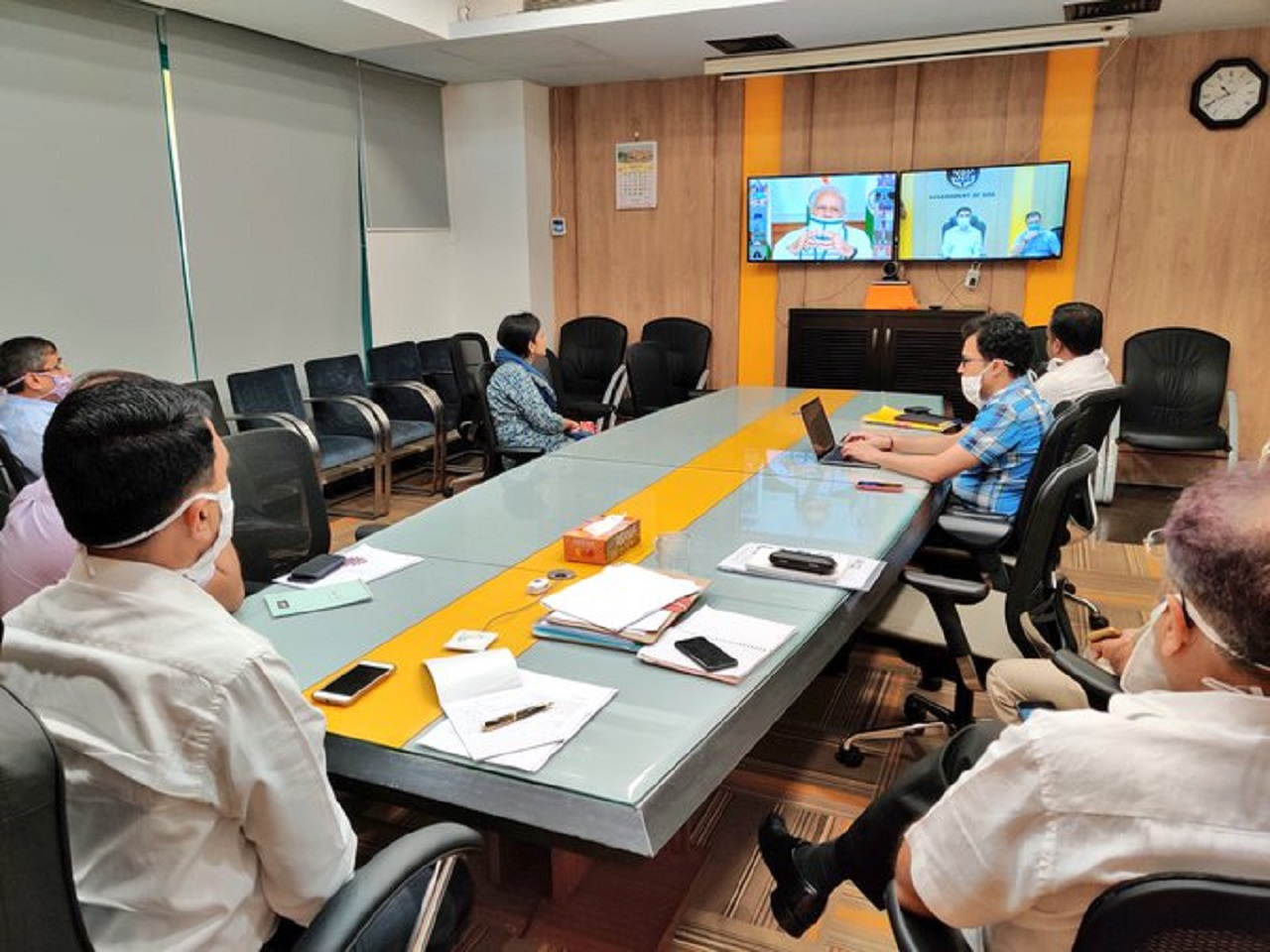Attending the meeting chaired by Hon'ble PM Shri Nnarendramodi Ji with Chief Ministers on Covid19 pandemic, over video conference.