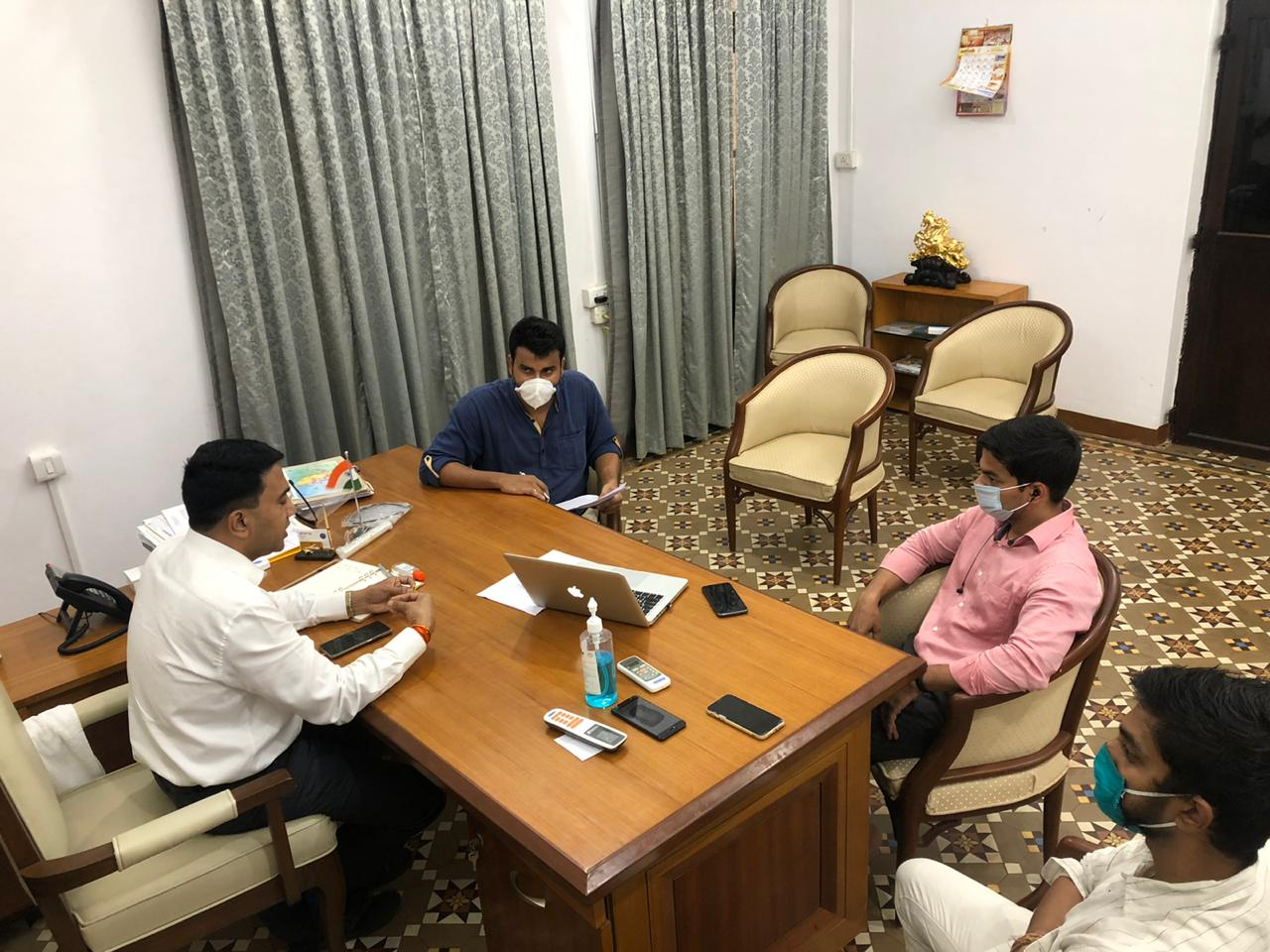 CM Interacted with #BJYM Goa Karyakartas over tele-conferencing today
