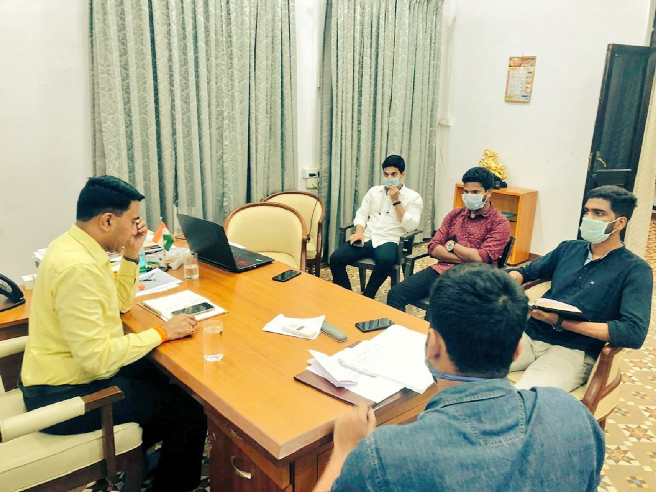 CM had fruitful interaction with Student Representatives of various colleges on COVID19 impact
