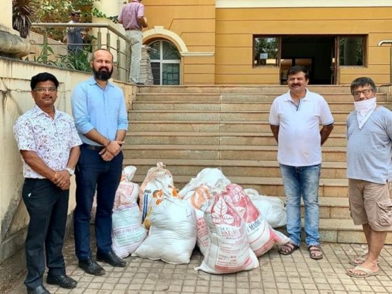 Collectorate South Goa thanks Gujarat Samaj for donating 400 Kg rice for distribution to the needy