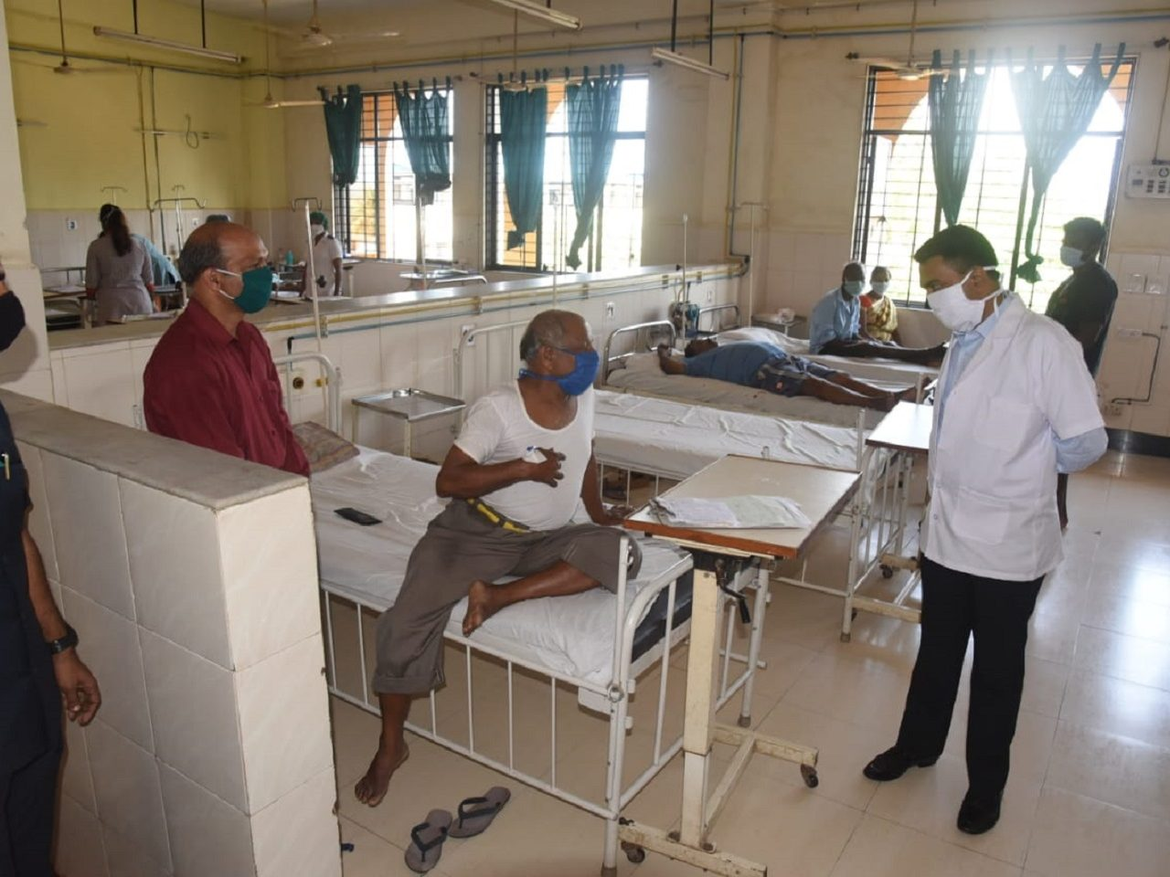 Honble Chief-Minister today visited District Hospital Mapusa.