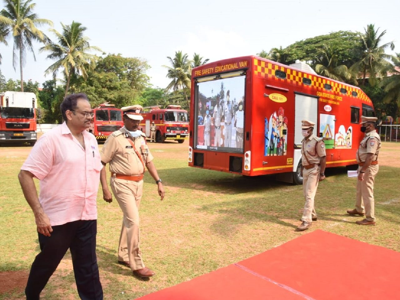Honorable Chief Secretary, Goa launched the Fire Safety Educational Van