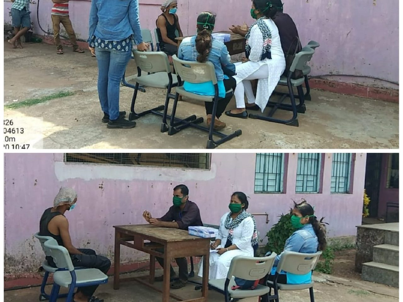 Medical Checkup of residents of Guirim, Namoshi, Shelter Home by Dr Rupesh Patkar & Team