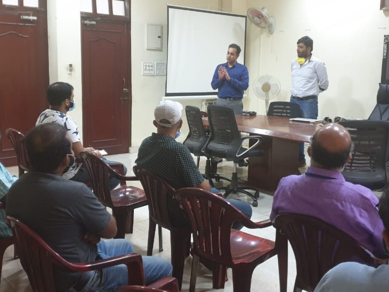 Training of officers at North Goa Collectorate to conduct community survey of COVID19 covering 100% houses from 13th April.