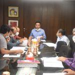 मुख्यमंत्री डॉ प्रमोद सावंत हानी जीएसआयडीसीची १७९ बोर्ड बैठक घेतली