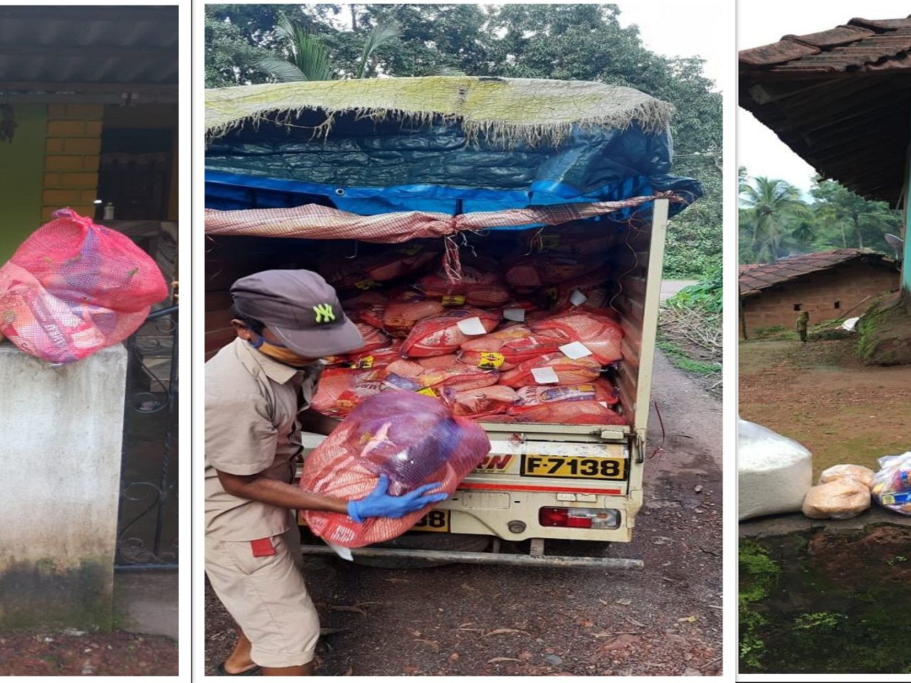 Essential supplies were distributed in sealed area of Gosavivada poriem and Varchawada Ravona Keri by the Collectorate staff