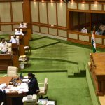 Monsoon Session of the Goa Legislative Assembly held at Assembly Complex, Porvorim on July 27, 2020.