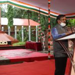 Additional Collector- III, South District, Shri Arvind Kutkar speaking after unfurling the national tri-colour at Ponda on the occasion of Independence Day Celebrations on August 15, 2020