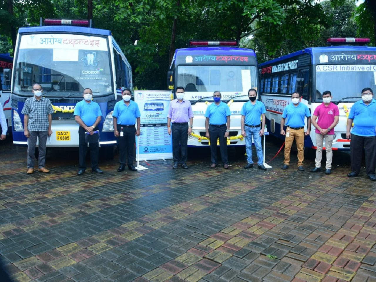 Chief Minister Dr Pramod Sawant flagged off the Aarogya Express Vans under CSR initiative of Colorcon.