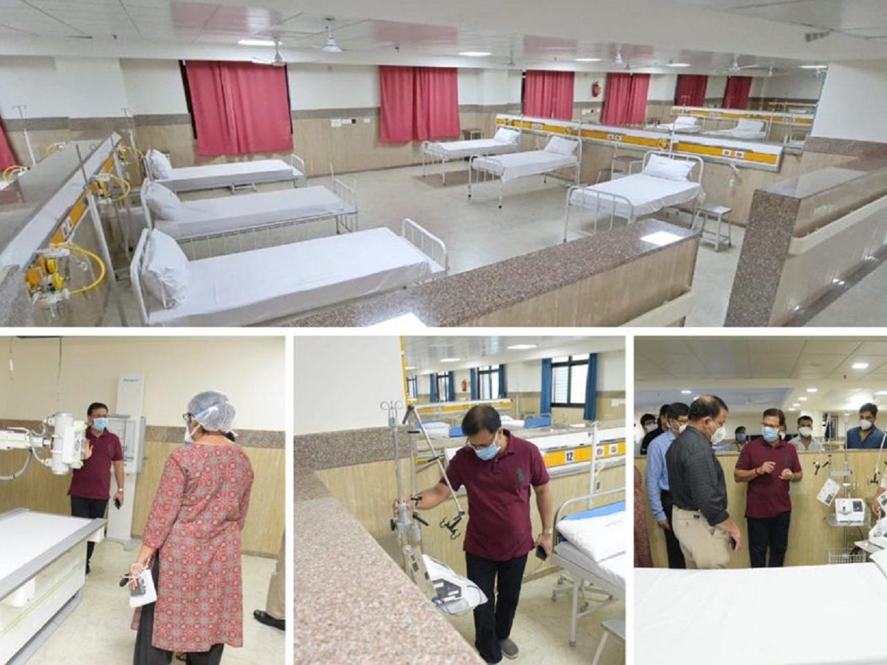 Health Minister Shri Vishwajit Rane inspected the newly built South Goa District Hospital which will be converted as COVID-19 Hospital