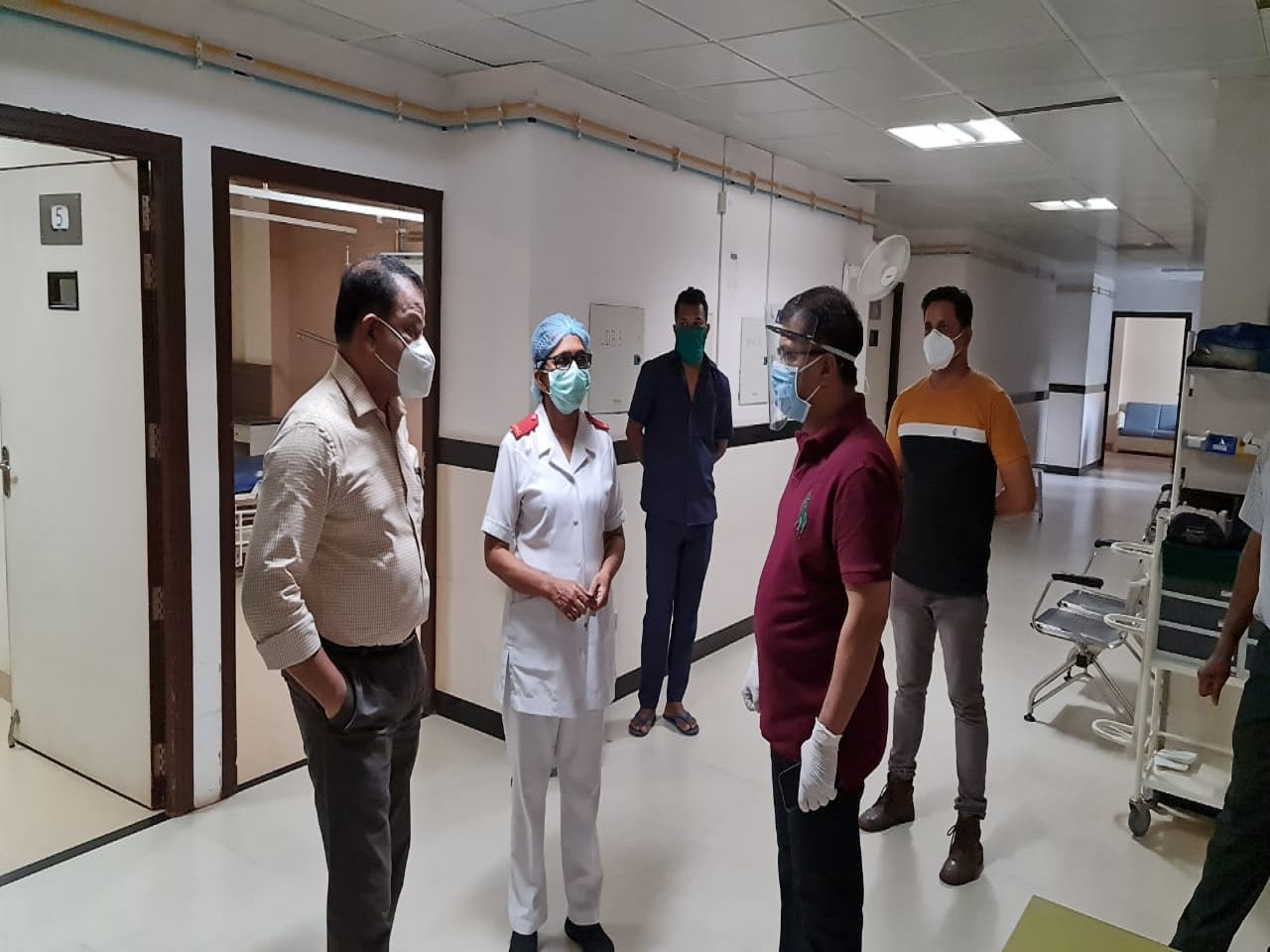 Honourable Health Minister Vishwajit P. Rane inspected Wards in GMC&H which will be converted into a dedicated COVID wards.