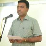 माननीय गोंय मुख्यमंत्री,डॉ. प्रमोद सावंत राष्ट्रीय एकता दिवस ३१ ऑक्टोबर २०२० दिसा साजरा करताना दिसले