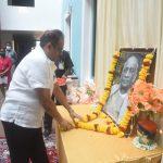 मुख्य सचिव, श्री. परिमल राय, सचिवालय, पर्वरी ऑक्टोबर ३१,२०२० दिसा हांगा राष्ट्रीय एकता दिवस साजरा करताना दिसले