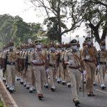 Police Personnel organised Ceremonial March Past to observe Rashtriya Ekta Diwas(National Unity Day) from Dempo House, Panaji to Azad Maidan, Panaji today, October 31, 2020.