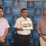 Chief Minister, Dr. Pramod Sawant Releasing The Logo Of 60 Years Of Goa's Liberation Day Celebration At Altinho, Panaji On December 17, 2020.