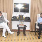 Minister for Industrial Development, Government of Uttar Pradesh Shri. Satish Mahana called on Chief Minister Dr. Pramod Sawant at Altinho