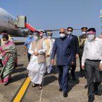 भारताचे राष्ट्रपती, श्री रामनाथ कोविंद आनी प्रथम महिला श्रीमती. सविता कोविंद १९ डिसेंबर २०२० दीसा गोयचे राज्यपाल श्री भगतसिंग कोश्यारी आनी मुख्यमंत्री डॉ. प्रमोद सावंत हांनी स्वागत केले.