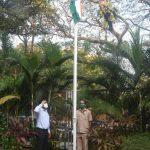 मुख्यमंत्री डॉ. प्रमोद सावंत हांनी अल्टिनो हांगा मुख्यमंत्र्यांचे अधिकृत निवासस्थान महालक्ष्मी हांगा तिरंगा फडकयलो