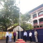 MLA Mayem Shri. Pravin Zantye hoisted the tri-colour on the Occasion of Republic Day in Bicholim Taluka