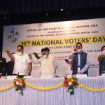 The 11th National Voters Day was celebrated by the Office of the Chief Electoral Officer, Goa in association with the District Election Officer, North Goa at Menezes Braganza Hall, Panaji