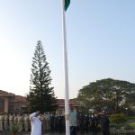 Speaker Shri. Rajesh Patnekar hoisted the National Flag in the Legislative Assembly Complex, Porvorim and received the Guard of Honor on the occasion of Republic Day
