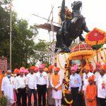 Chief Minister attended Chhatrapati Shivaji Maharaj Jayanti Samaroh at Farmagudi Ponda on Feb. 19, 2021