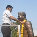 Chief Minister, Dr. Pramod Sawant Garlanding The Statue Of Goa's First Chief Minister, Late Dayanand B. Bandodkar On The Occasion Of The Latter's Birth Anniversary Observed At Panaji Near Old Secretariat On March 12, 2021.