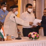 Shri Vishwas Ramnath Satarkar Took Oath As State Chief Information Commissioner (SCIC) And Shri Sanjay Narayan Dhavalikar As State Information Commissioner (SIC) At a Simple Ceremony Held At Durbar Hall, Raj Bhavan, Donapaula Today.