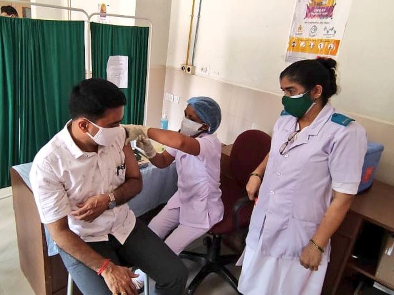 Dr Pramod Sawant took Second dose of COVID-19 Vaccine.Also he has urged all eligible citizens to get vaccinated and strengthen the fight against this pandemic.