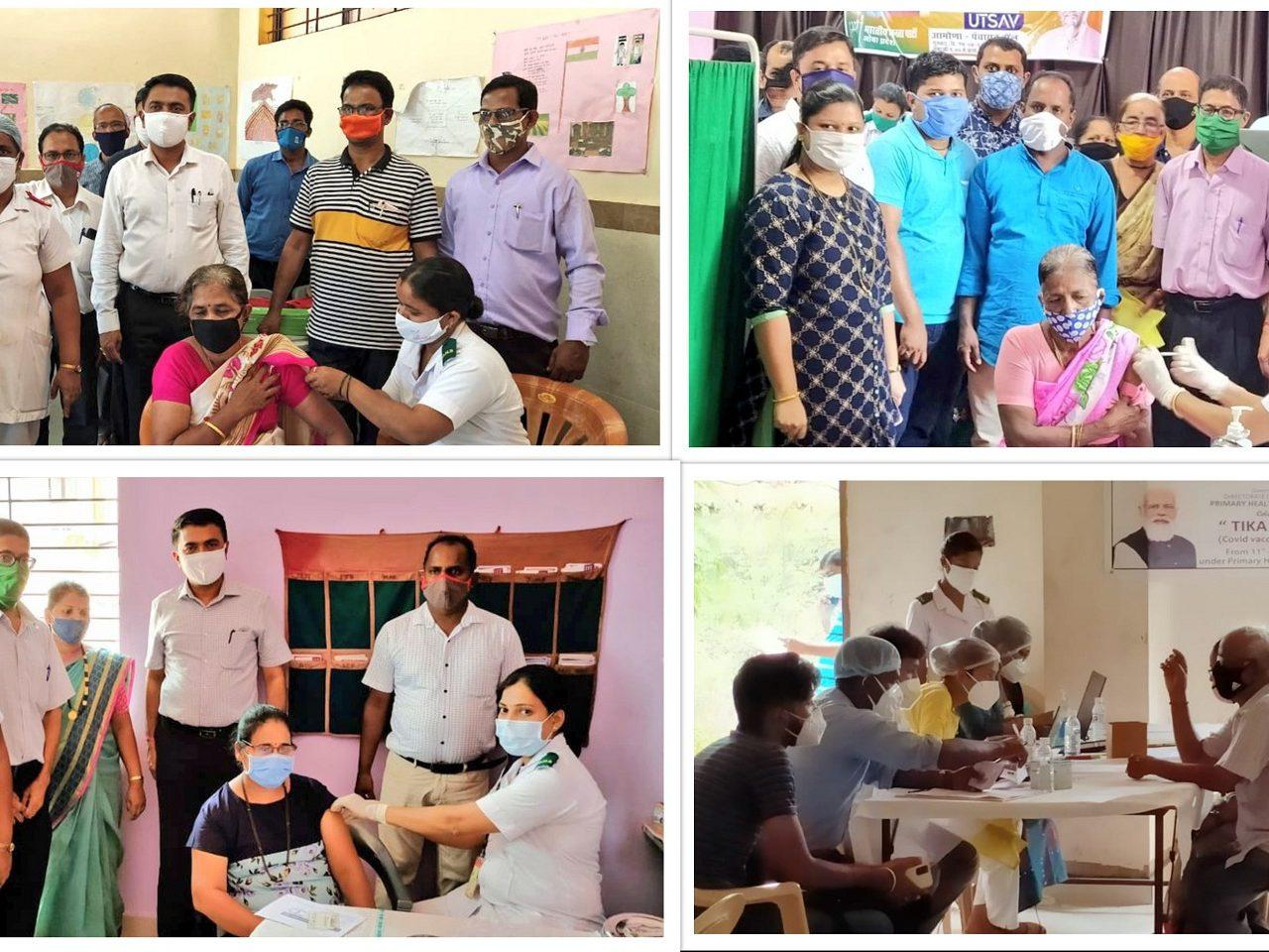 Tika Utsav Vaccination Drive being Conducted in Various Village Panchayats Across Goa