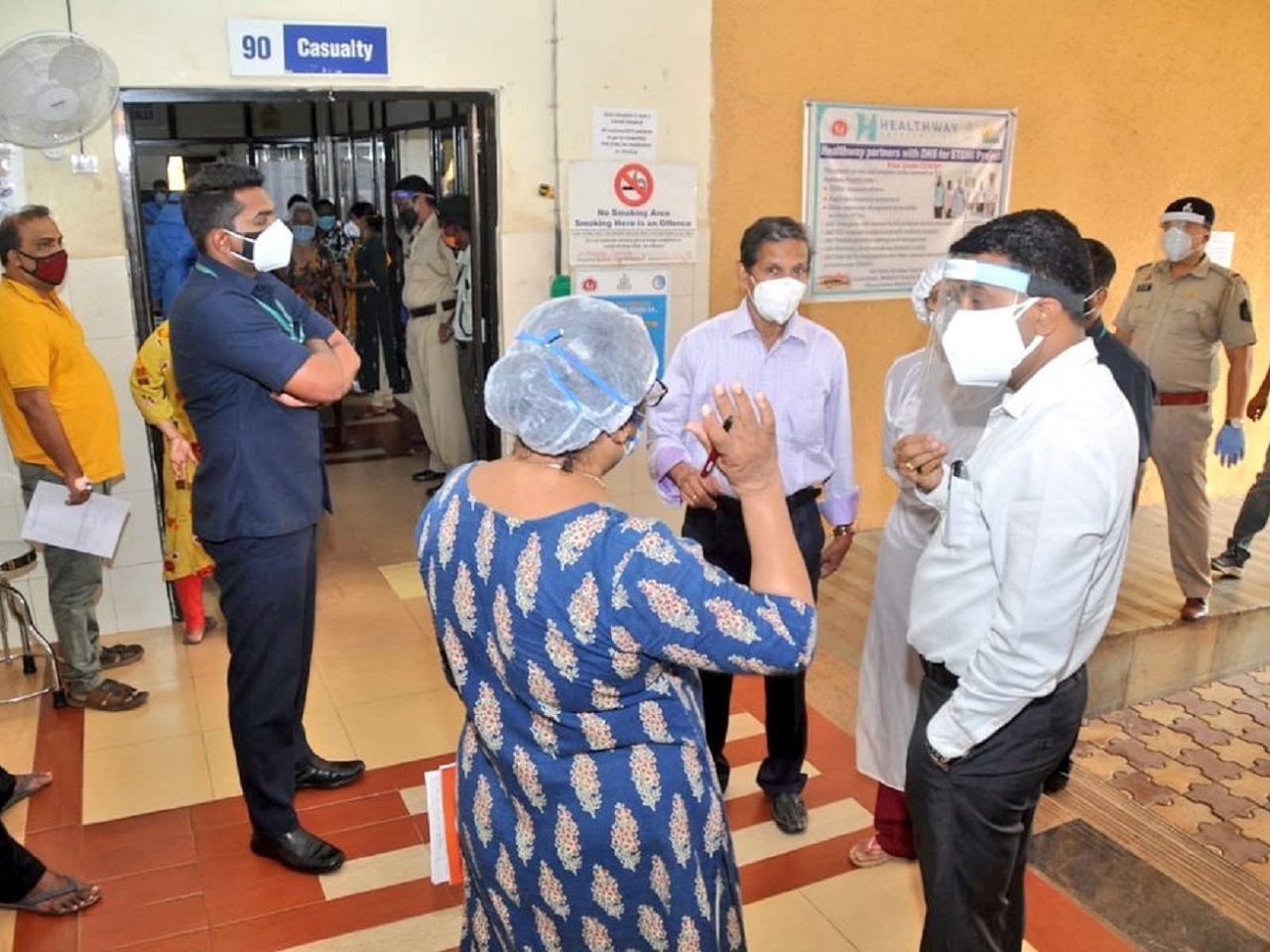 CM Dr. Pramod Sawant Visited and held a review of the functioning of North Goa District Hospital at Mapusa.
