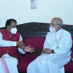 Governor Visits Bishop's Palace