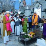 राज्यपालांन मंगेशी मंदिराक भेट दिली