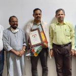 Shri Munankar Awarded As 'Patrakar Mitr'