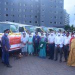 मुख्यमंत्री डॉ.प्रमोद सावंतानी गोंय राज्य शहरी विकास यंत्रणेद्वारे घेतिल्या नौउ कचऱ्यांची गाड्यांचो उजगातंन केले