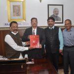 श्री. पी .यस  श्रीधरन पिल्लई हांच्यानी गोवा लोकसेवा आयोगाची (जीपीएससी) अधिकृत नियमावली ,राजभवन, डोनापौला हांगा  प्रसिद्ध केले