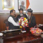 Metropolitan OF Ahmedabad Diocese & Brahmavar Diocese Called On Shri P.S. Sreedharan Pillai