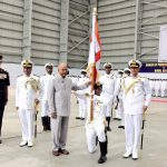 President of India, Shri. Ram Nath Kovind today awarded the President's Colour to Indian Naval Aviation